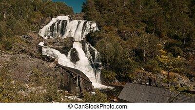 Hidden Waterfall In Norway - Cinematic Style