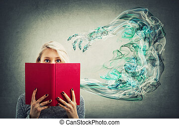 hide behind book