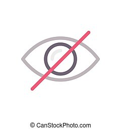 hide  color line icon