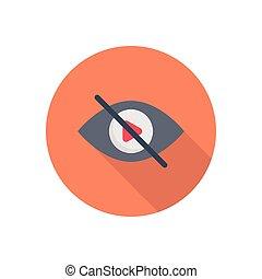 hide  flat color icon