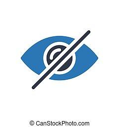 hide  glyph color icon