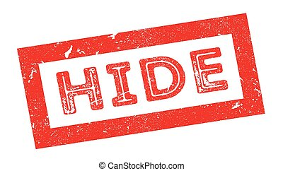 Hide rubber stamp