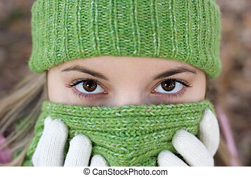 hideg, nő