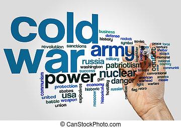 hideg, szó, háború, felhő