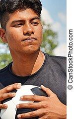 hidegvérű, fiatal, hím, futball játékos