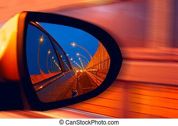 hidgway, 汽車, 反映, 鏡子