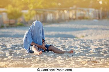 Hiding Kid Beach