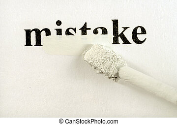 hiding mistakes - hiding / solving a mistake with correcting...