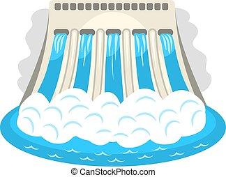 hidroeléctrico, icon., estación