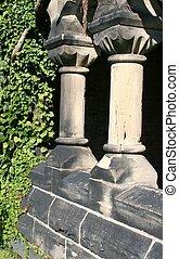 hiedra, columnas