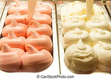 hielo, gelato, crema