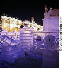 hielo, palacio