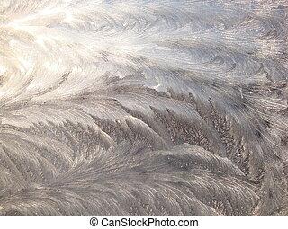 hielo, textura