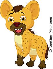 hiena, lindo, caricatura
