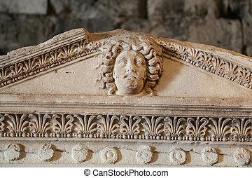 hierapolis, pavo, antiguo, sarcófago, ciudad