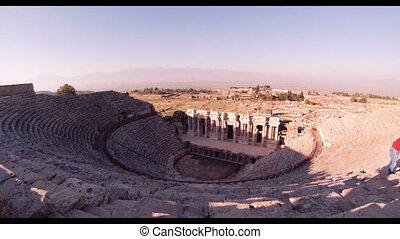 Hierapolis theater, Pamukkale, Denizli. TURKEY