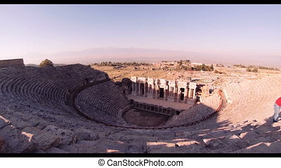 Hierapolis theater, Pamukkale, Denizli. TURKEY