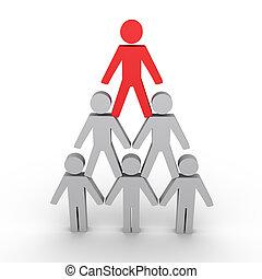 hierarchie, figuren, metapher, menschliche