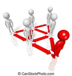 Hierarchy concept - 3D, computer generated hierarchy...