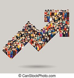 Hierarchy of company flat illustration isolated, human resource