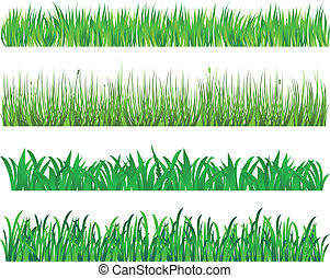 hierba verde, elementos