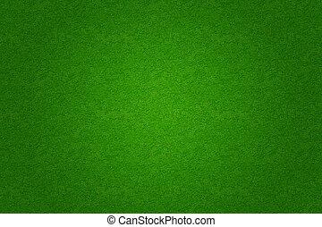 hierba verde, futbol, o, golf, campo, plano de fondo
