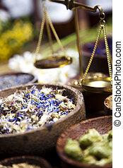 hierbas, medicina alternativa, secado