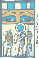 Hieroglyph Eyes - Anubis and Horus the Pharaoh's eyes...
