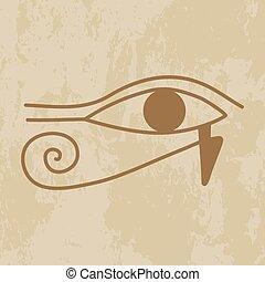 hieroglyph of the eye of Providence