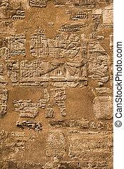 hieroglyphic, エジプト, ファラオ, 文明, karnak, 寺院