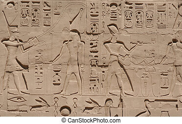 hieroglyphic, ルクソール寺院