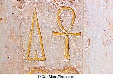 hieroglyphic, 寺院, hatshepsut