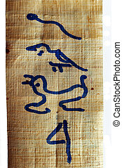 hieroglyphics, パピルス, エジプト人