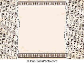 hieroglyphs., 装飾, エジプト人
