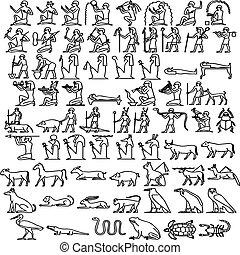hieroglyphs, egípcio