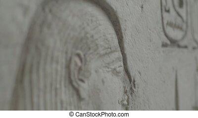 hieroglyphs., egypt., cairo., gros plan