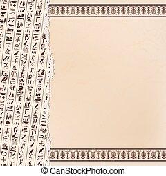 hieroglyphs., versieringen, egyptisch