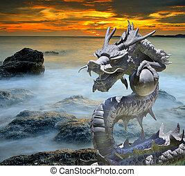 hierro fundido, dragón