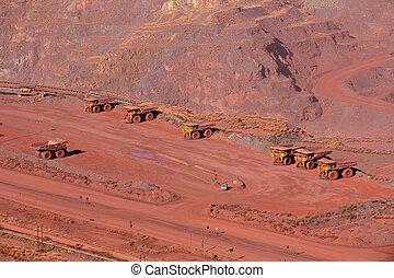 hierro, mineral, minería