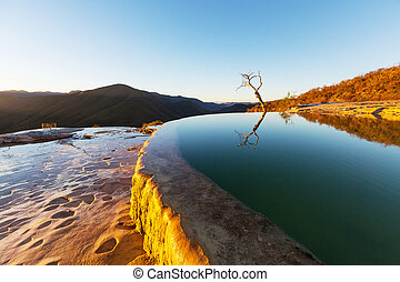Hierve el Agua, natural hot springs in the Mexican state of ...