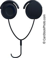 Hifi headphones icon, cartoon style - Hifi headphones icon. ...
