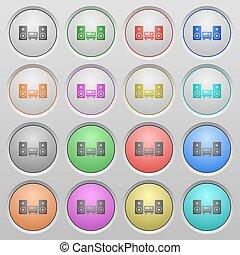 Hifi plastic sunk buttons
