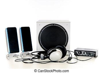 Hifi Sound system 2.1 - Computer Hifi Sound system 2.1,...