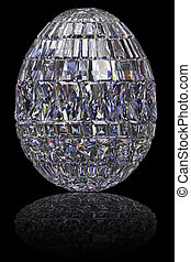 higgadt, drágakövek, tojás, fekete, sima, háttér, húsvét