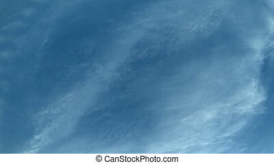 High Altitude Clouds Drifting in the sky. - Wispy,...