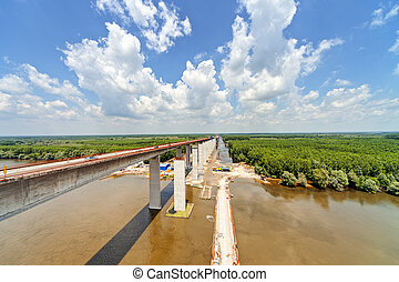 high altitude concrete bridge