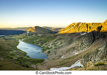 Beartooth pass, Montana and a high-altitude lake