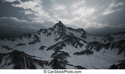 High Altitude Peaks and Clouds - high altitude peaks and...