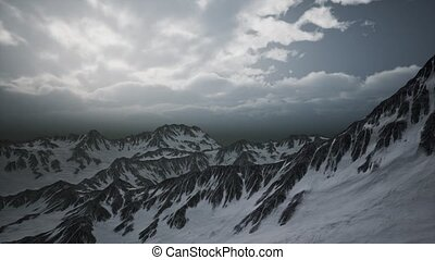 High Altitude Peaks and Clouds - high altitude peaks and ...
