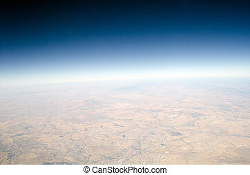 High altitude view of the Earth